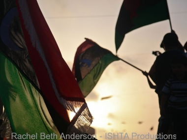 Sunsets as citizens celebrate the liberation of Misrata