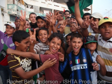 The young shabaab of Misrata in between cheers for the cities liberation