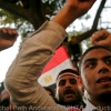 Protestors chanting only hours before Mubarak officially steps down on Feb 11