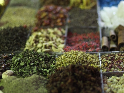 Spice stall at the Khan Khalili suc