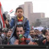 Child leading chants in Tahrir Square during 2011 revolution